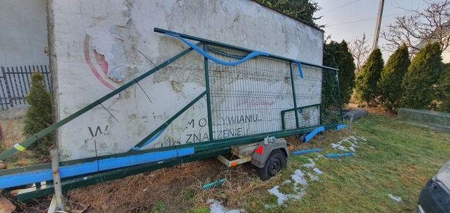 Nowa brama przesuwna 4m + furtka 3 słupki