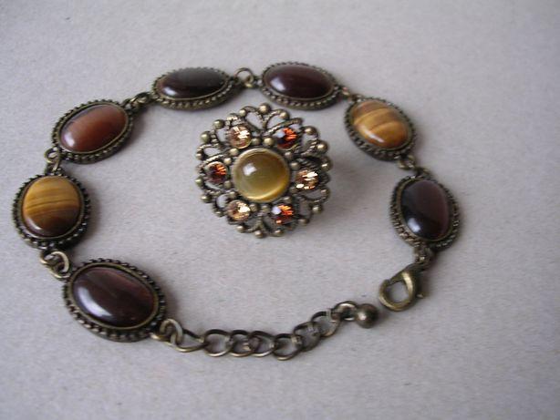 Stara biżuteria pierścionek i bransoletka