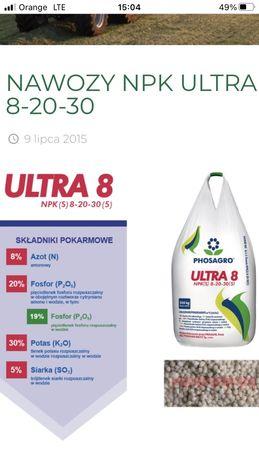 Ultra 8 nawoz wieloskladnikowy npk 8-20-30