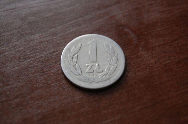 Moneta 1 złoty z 1957 roku.