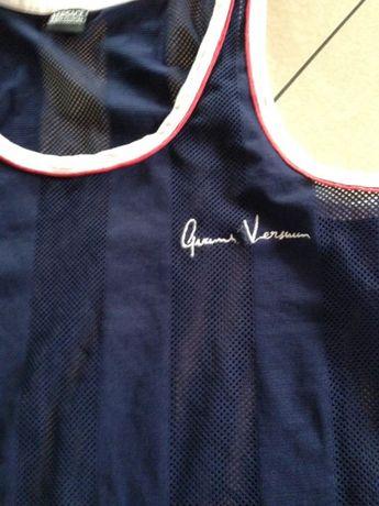 bluzka koszulka top granatowa VERSACE