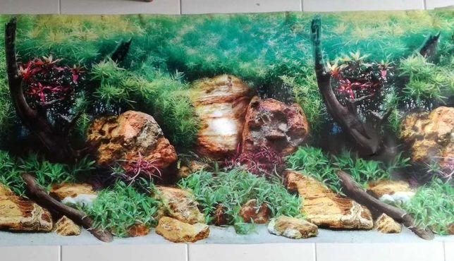 Poster decorativo de aquário c/ 1,2m
