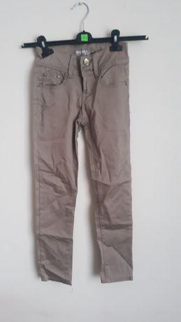 Spodnie damskie brązowe Sinsay