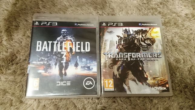 Gry Transformers Dark of The Moon + Battlefield 3 Playstation PS3