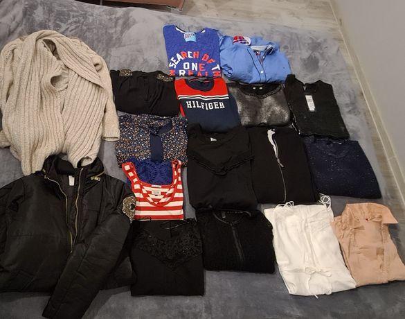 Paka ubrań 38 sukienki plaszcz kardigan swetry tommy TH pepe stefanel