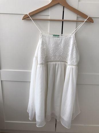 Letni top biała bluzka United Colors of BENETTON S jak nowa