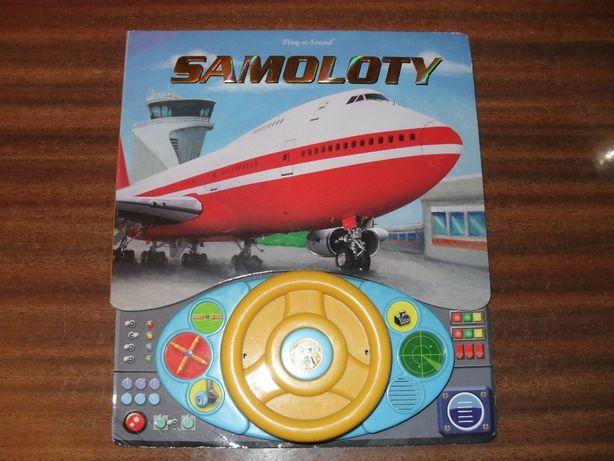 Książka samoloty z dzwiękami.