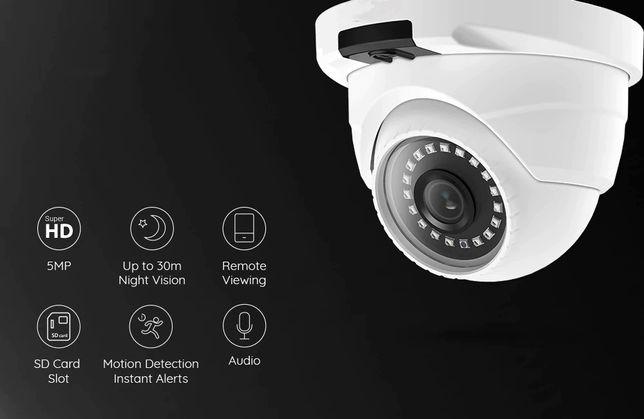 Câmara PoE de exterior, FULL HD, vigilância, com microfone