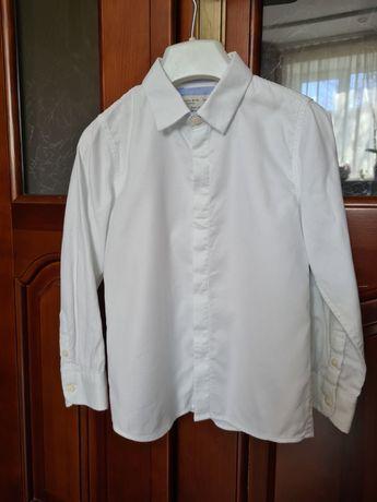 Біла сорочка ZARA BOYS 116 см, рубашка