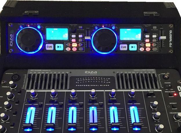 Wzmacniacz 960W Pulpit Mikser AKTYWNY Ibiza DJ1000MKII CD USB SD