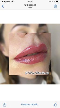 Перманентный макияж ! Пудровые Брови,губки,межресничка. Татуаж