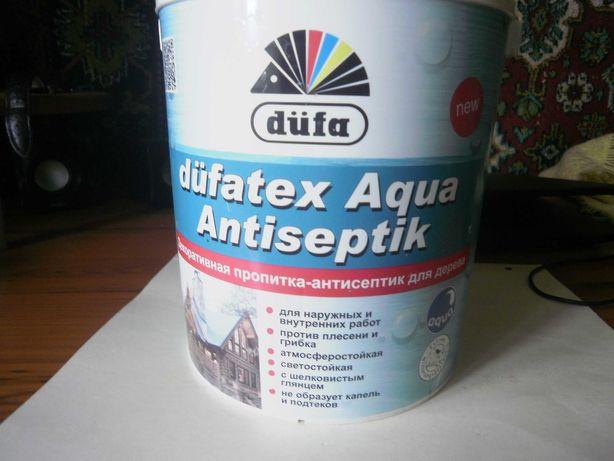 Антисептик для дерева Dufa Dufatex, бесцветный, 1,3л