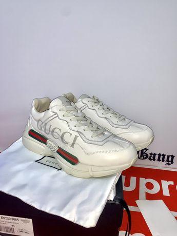 Кроссовки Gucci 1:1 Люкс Кожа Supreme Bape Off-White Vlone Palm angels