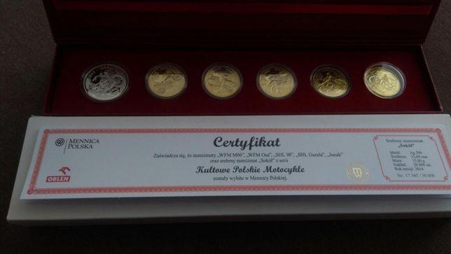 Kolekcja monet Numizmaty kultowe polskie motocykle