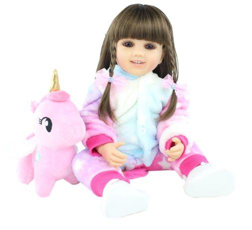 Реалистичная полностью силиконовая кукла реборн 55см (детская игрушка)