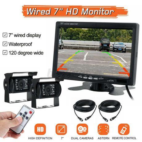 Monitor 7'' -2ch - 2 camaras , cabos de 10 m-4 pinos