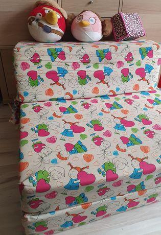 Pufa materac składany łóżko fotel