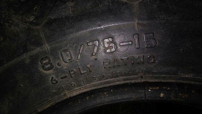 Opony 8.0/75 R - 15 , 260/70R16 niemieckie RóżneRozmiary jodla jodełka