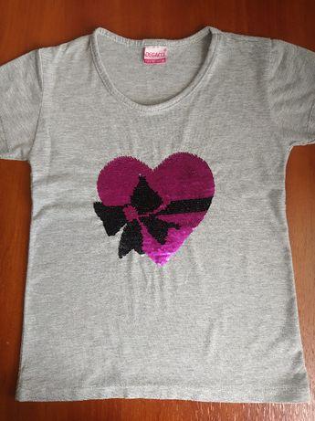 Детская футболка с пайетками-перевертышами