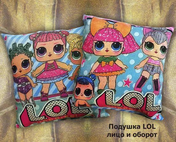 Декоративная детская подушка LOL
