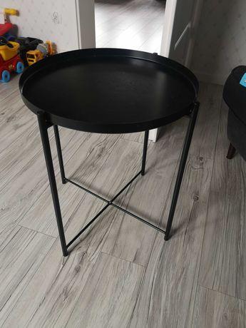 Stolik matalowy czarny, stolik kawowy