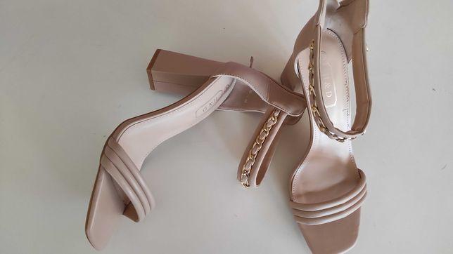 Sapatos salto alto nude - Novos