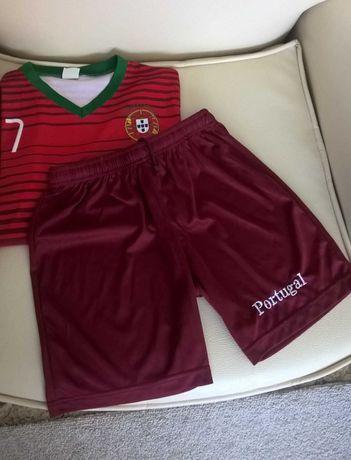 Camisola Seleção Portuguesa Conjunto com calções Portugal Ronaldo 7