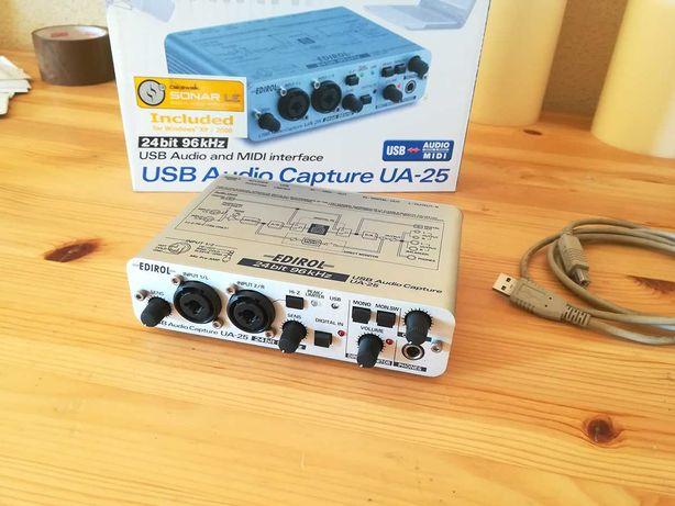 Interface Áudio & Midi ROLAND EDIROL UA-25