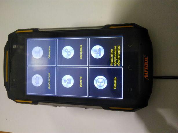 Телефон Autool со сканером obd 2 в комплекте