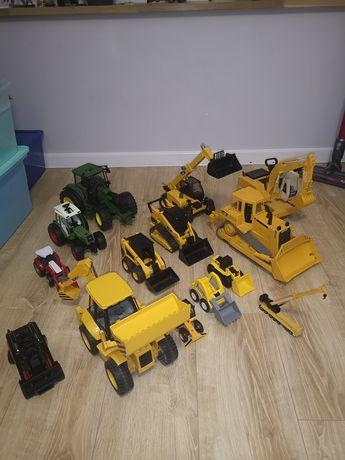 Maszyny budowlane, ciągniki, Bruder JCB, Cat, Siku, Liebherr, Fendt