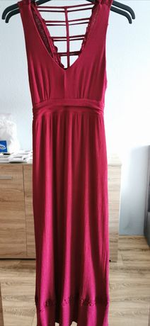 Sukienka bordowa S
