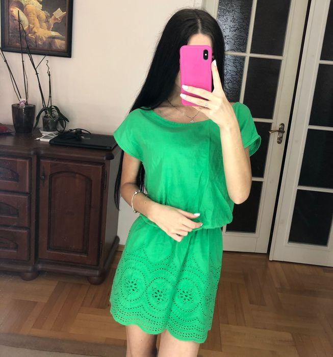Стильное зелёное платье Полтава - изображение 1