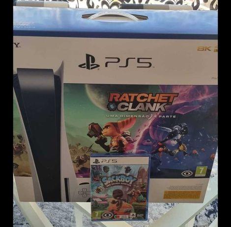 Play station 5 - PS5 (lacrado, 2 jogos e 1 comando) versão Standard