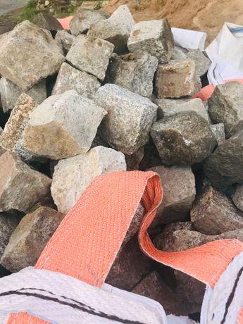 kostka brukowa granitowa szaro-ruda 8x11 ok. 5 ton odbiór Olsztyn