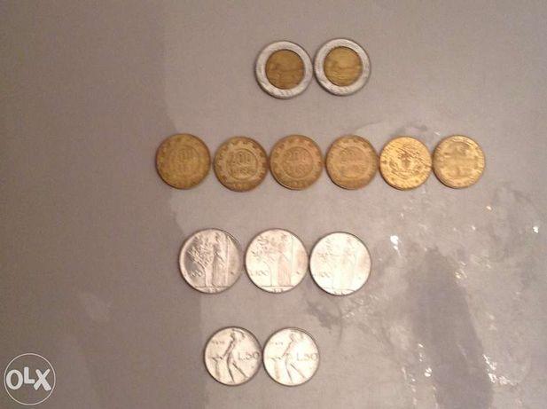 Монеты Италии, 13 штук, Австрии, 2 штуки, Франции, 17 штук