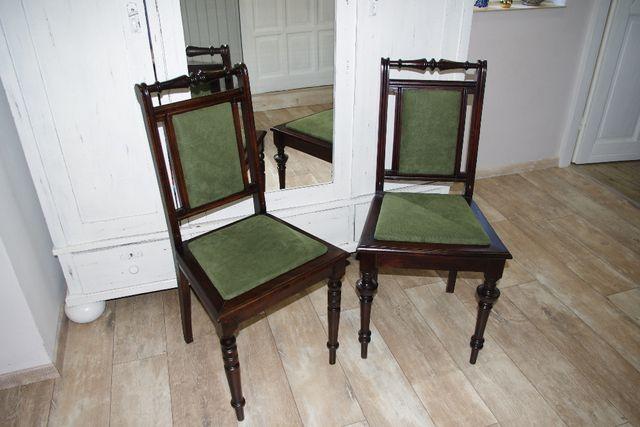 krzesło eklektyczne - po renowacji-nowe obicie - antyk