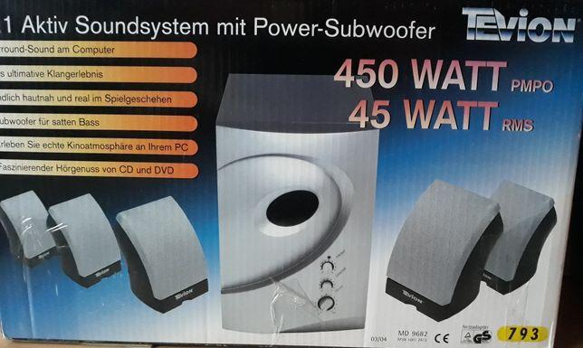 Sprzedam Power- Subwoofer 450 watt plus głośniki.