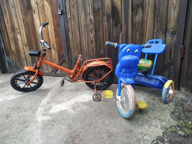 Детский велосипед трёхколёсный, зайчик