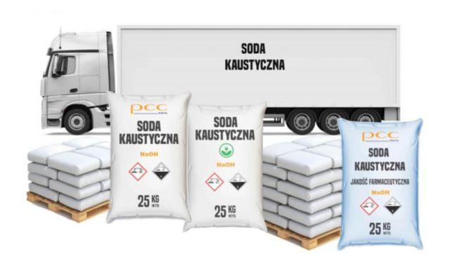 Soda kaustyczna – 25 – 24000 kg – Wysyłka kurierem