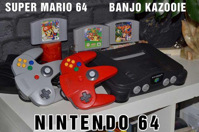 komplet kultowe nintendo 64 Super mario 64 Banjo Kazooie