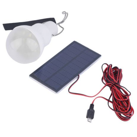 lâmpada luz LED portatil com bateria e painel solar (micro usb) -novo