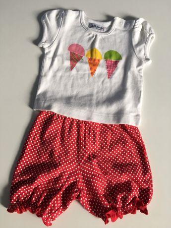Zestaw letni koszulka z krótkim rękawem + szorty, rozmiar 68