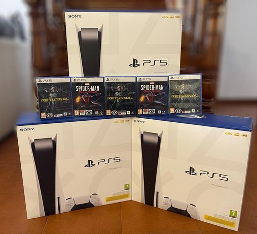 PS5 NOVAS + 5 Jogos