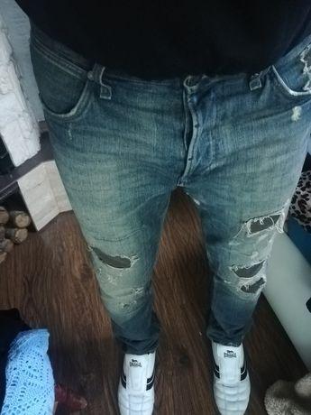 Wrangler Ben spodnie Jeans 34/34 pas 94 cm Vintage laty dziury
