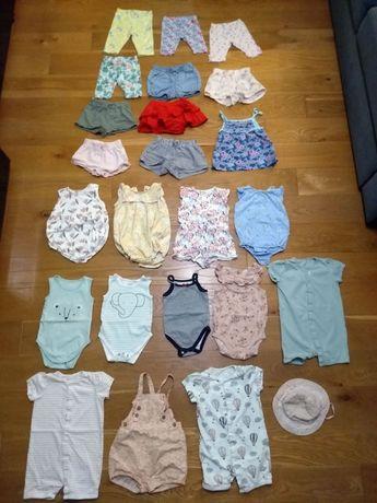 Zestaw 24 markowych ubrań dla dziecka w super stanie - rozmiar 80