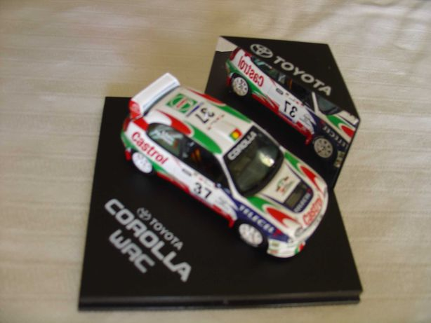 Miniatura carro escala 1:43 Rally de Portugal 1998; Toyota Corolla WRC