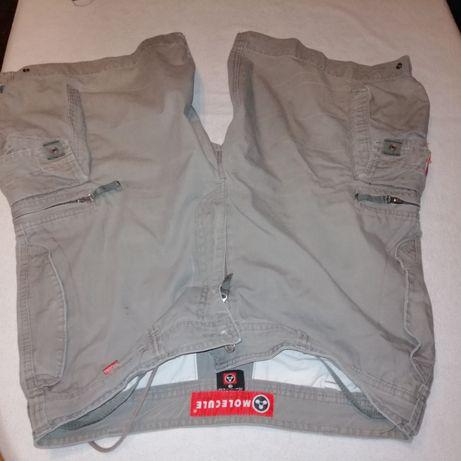 Spodnie krótkie bojówki L i długie 36/36