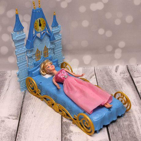 Łóżko Mattel dla lalki Barbie i lalka Disney Kopciuszek