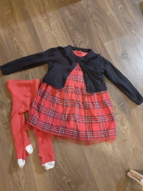 Sukienka wigilia, roczek 12 -18 miesiecy
