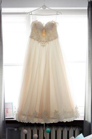 Suknia ślubna z gorsetem, 160 cm + 5cm obcas